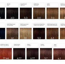 Essensity Colour Chart 10 Particular Argan Oil Hair Dye Color Chart