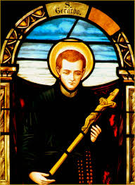 stained glass image banner overview of the life of st gerard majella
