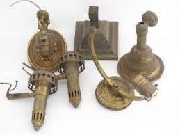old antique brass sconce lamps / wall mount lights lot, vintage lighting  parts