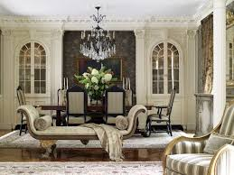 The clients love the rich paneling and detailed moldings, Italian crystal  and metal chandeliers,antiques, tapestries, and defining millwork. ...