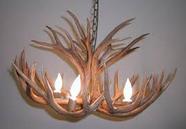 to enlarge 4 light mule deer antler chandelier