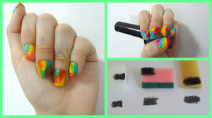 Tie dye nail art using different ways with a sponge + types of ...