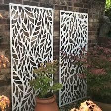 decorative metal garden screen privacy