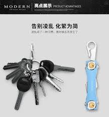 modern brand new aluminum key smart wallet diy keychain edc pocket key holder key organizer
