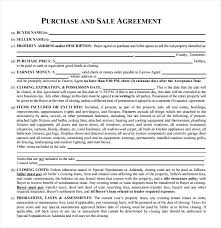 Simple Real Estate Purchase Agreement New Land Sales Contracts ...