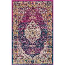 well woven lau molly multi colored 2 ft x 4 ft modern vintage