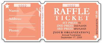 Raffle Ticket Design Template Sample Raffle Ticket Templates Formal