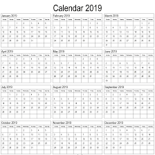print a calendar 2019 print calendar 2019