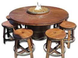 wine barrel outdoor furniture. zin firepit wine barrel outdoor furniture 1