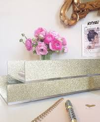 Decorative Letter Trays NEWLetter TrayAcrylicGoldGlitterDesk AccessoriesMade In USA 30