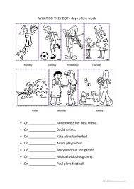 Kids. grammar mechanics worksheets: Kindergarten Days Of The Week ...