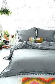 pom trim duvet set magical thinking bedding medallion comforter urban outfitter fringe cover duv grey pom fringe duvet cover