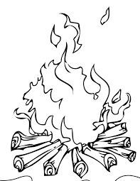 Small Picture Campfire Coloring Page Handipoints