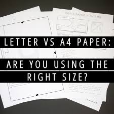 letter vs a paper are you using the right size
