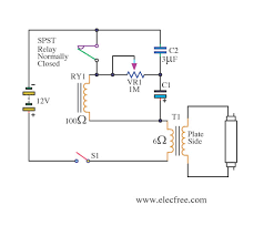 three led 12v schematic > circuits > 12v fluorescent lamp flashing three led 12v schematic