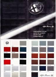 Details About 1980s Alfa Romeo Colour Chart International Market Brochure Alfetta Giulietta
