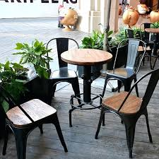 latest craze european outdoor furniture cement. European Patio Furniture Round Wood Dining Tables And Chairs Lounge Bar Club Cafe Outdoor Dinette Latest Craze Cement
