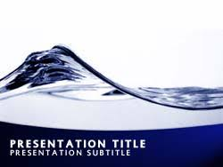 wave powerpoint templates royalty free abstract water wave powerpoint template in blue