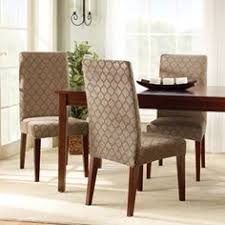 dining chair slipcovers pattern parsons side chair skirted slipcover 40 5 hx20 5