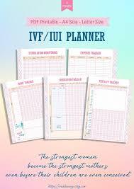 Fertility Tracking Chart Printable Ivf Iui Planner Printable Template Ttc Planner Fertility Tracking Ovulation Tracker Ivf Iui Medication Tracker Ivf Journey Printable
