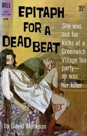 epitaph for a dead beat by david markson cover art by robert mcginnis