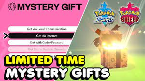 NEW MYSTERY GIFT CODES In Pokemon Sword & Shield (Limited Time) - YouTube