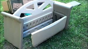 rubbermaid storage bench patio storage bench outdoor