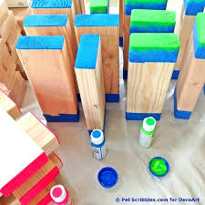 yard game with wooden blocks giant outdoor