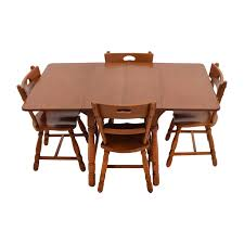 Table With Hidden Chairs Chair Turner Round Dining Table 4 Side Chairs For Designs 66990