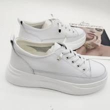 Белые туфли из натуральной кожи; <b>Удобные женские кроссовки</b> ...