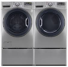 lg washer and dryer. lg 5.2 cu. ft. front-load washer and 7.4 electric steam dryer \u2013 graphite steel | the brick lg