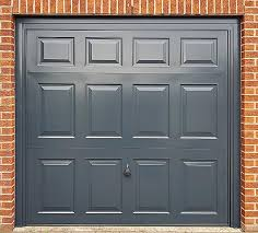 garage door painting anthracite grey door
