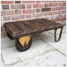 small industrial trolley coffee table