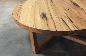 mariel round coffee table with x legs retrograde furniture timber recyc recycled large sydney low australia solid top small melbourne reclaimed tasmanian