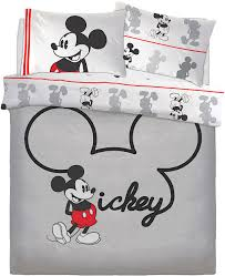 official disney mickey mouse jersey reversible double duvet cover bedding set 11216