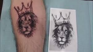 эскизы тату картинок льва