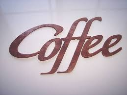 custom made coffee word metal wall art kitchen decor