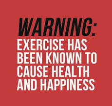 Quotes About Exercise Warning Exercise has been know to cause health and happiness 46