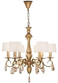 rv astley 6 branch antique brass chandelier