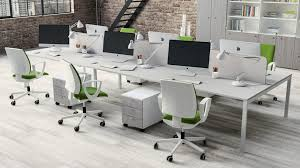 long office desks. Awsome Office Furniture Design With White Long Desk Plus Partition Including Modern Swivel Desks