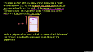 polynomial word problem rectangle and circle area khan academy