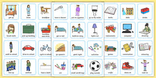 Editable Bedtime Routine Chart Editable Daily Routine Visual Timetable For Girls