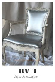 then glazed with a mix of glaze and coffee bean craft paint the upholstery got a makeover with paint yes you can spray paint leather