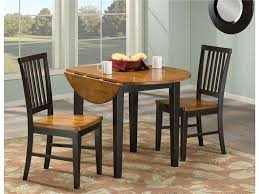 small round drop leaf table beautiful superb leather dining table chairs about remodel small home