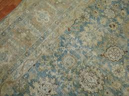 beaux arts antique pale blue persian tabriz rug for