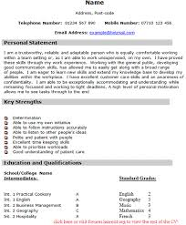 cv personal statement help