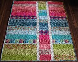 Best 25+ Quilts for kids ideas on Pinterest | Bandana blanket ... & Easy quilt. Sew long strips together, cut vertically into three, rotate  middle piece Adamdwight.com