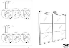 Ikea Instruction Manuals Ikea Accessories Pax Stordal Sliding Door Pair 98x93 Pdf Assembly