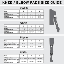 Knee Elbow Size Chart Shred