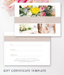 Photography Gift Certificate Template Photography Gift Certificate Template Photography Pinterest